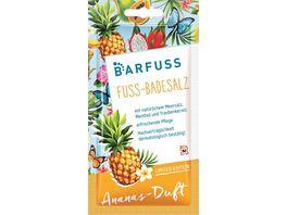 BARFUSS Fuss Badesalz mit natuerlichem Meersalz Menthol und Traubenkernoel