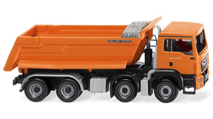 WIKING 0674 48 Muldenkipper MAN TGS Euro 6 Meiller orange