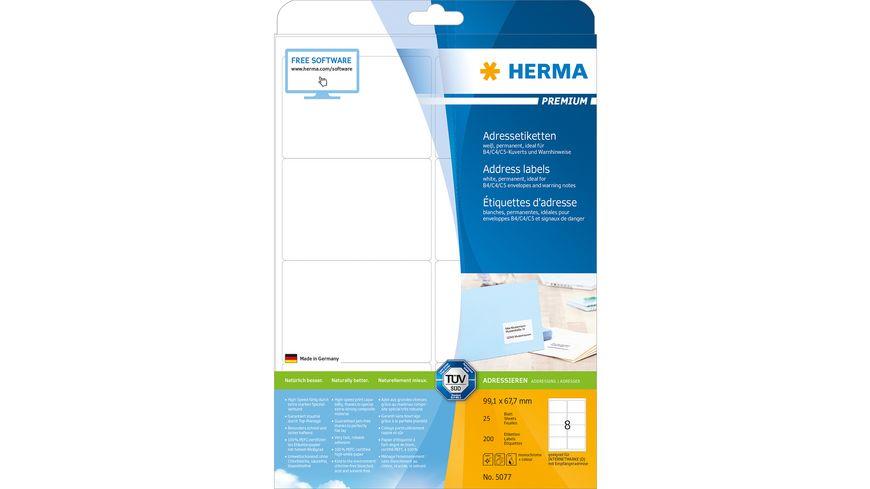 HERMA Premium A4 Etiketten 99,1x67,7mm