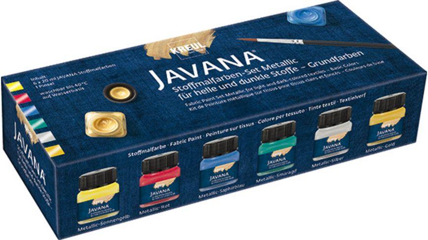 KREUL Javana Stoffmalfarben Metallic Grundfarben 6er Set