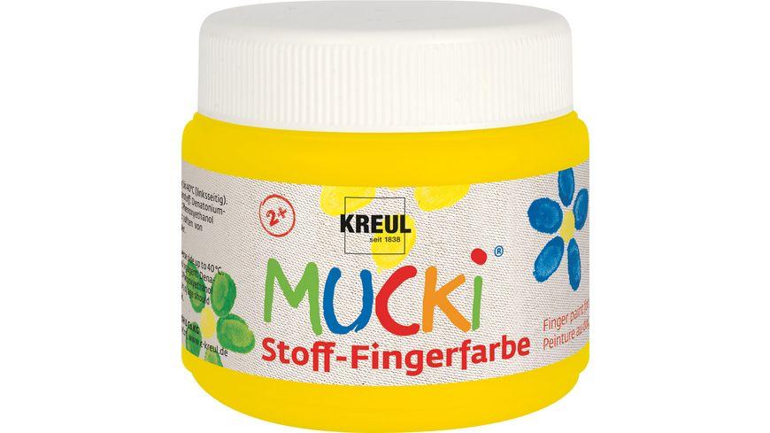 MUCKI Stoff Fingerfarbe gelb