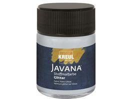 KREUL Javana Stoffmalfarbe Glitter silber