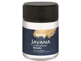 KREUL Javana Stoffmalfarbe metallic weiss