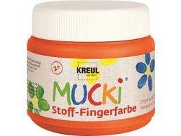 MUCKI Stoff Fingerfarbe orange