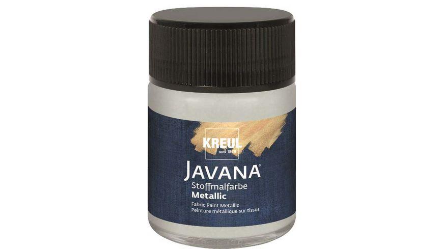 KREUL Javana Stoffmalfarbe metallic silber