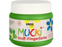 MUCKI Stoff Fingerfarbe gruen