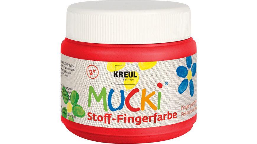 MUCKI Stoff Fingerfarbe rot