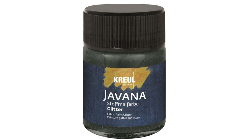 KREUL Javana Stoffmalfarbe Glitter schwarz