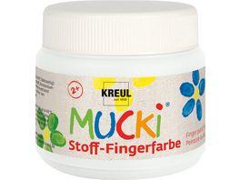 MUCKI Stoff Fingerfarbe weiss