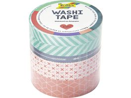 folia Washi Tape 4er Set GEOMETRISCH