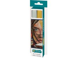 SOLO GOYA Triton Acrylic Paint Marker 1 4 mm 2er Set silber und gold