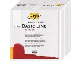 SOLO GOYA Keilrahmen 3er Set Basic Line 15 x 15 cm