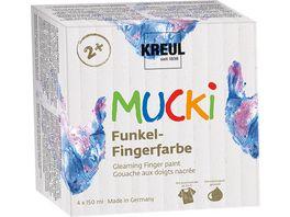 KREUL Mucki Funkel Fingerfarbe 4er Set