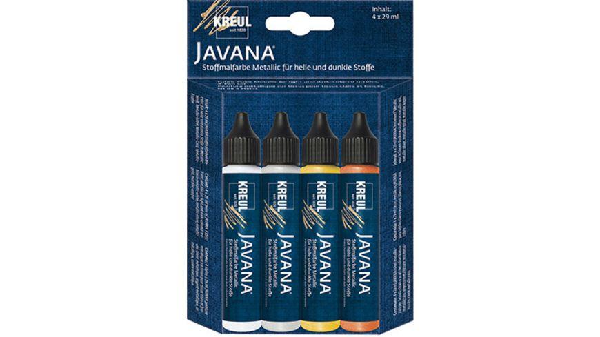 KREUL Javana Stoffmalfarben Metallic 4er Set