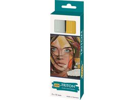 KREUL SOLO GOYA Triton Acrylic Paint Marker 15 0 mm 2er Set silber und gold