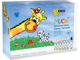 MUCKI Window Color Set Kleine Tierwelt
