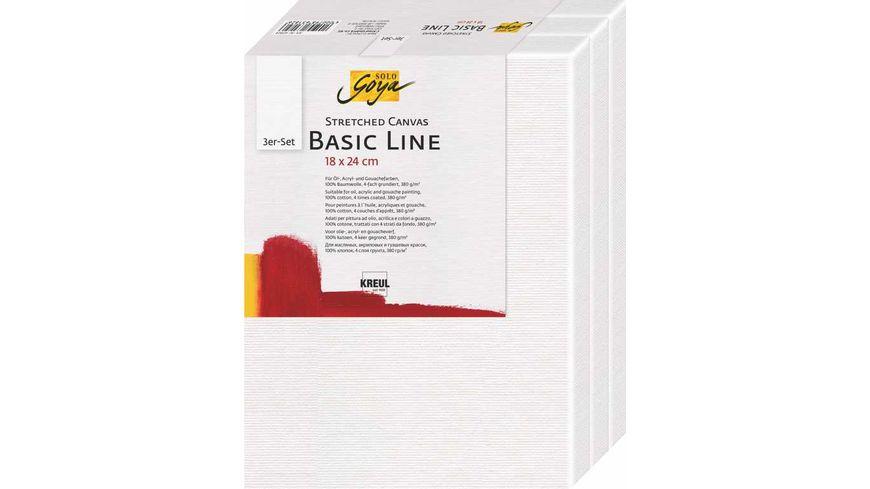 KREUL SOLO GOYA Keilrahmen 3er Set Basic Line 18 x 24 cm