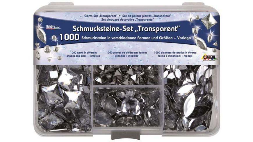KREUL Schmucksteine Set Transparent