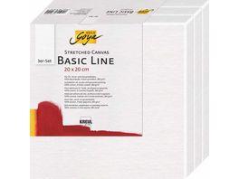 SOLO GOYA Keilrahmen 3er Set Basic Line 20 x 20 cm