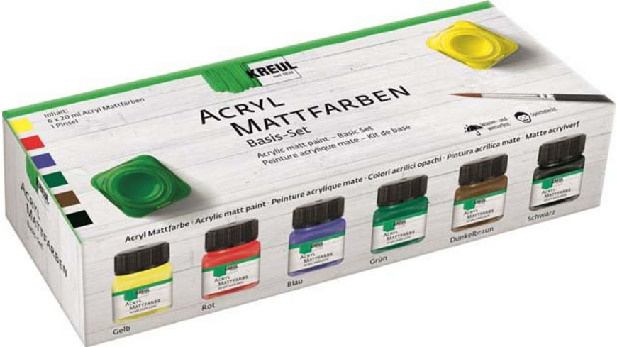 KREUL Acryl Mattfarben Basis 6er Set