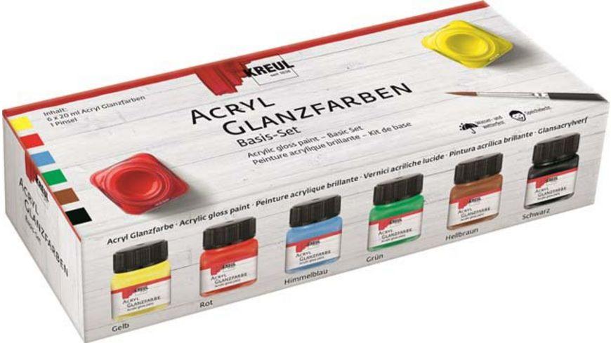 KREUL Acryl Glanzfarben Basis Set