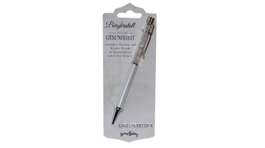 H H Kugelschreiber Bergkristall