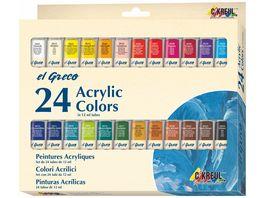 KREUL el Greco Acrylic Set 24 x 12 ml Tuben