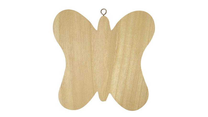 Rayher 3D Holz Schmetterling mit Aufhaenger 15x15 cm