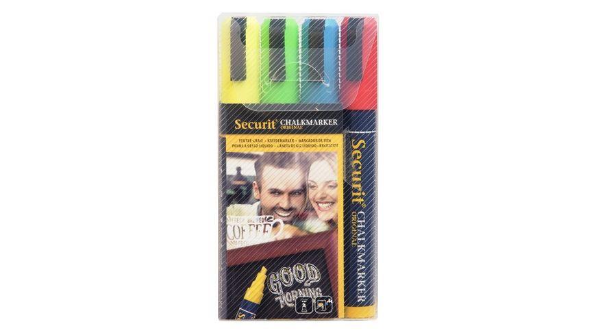 Securit Kreidemarker mittel 4er Set farbig sortiert