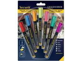 Securit Kreidemarker fein 7er Set weiss