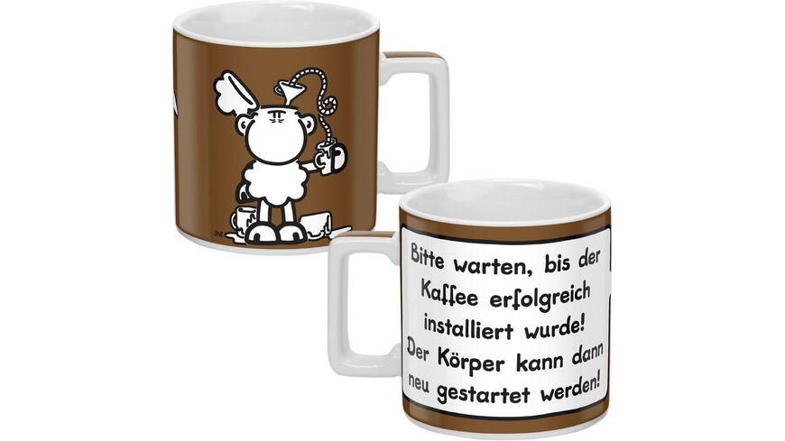 sheepworld Tasse KAFFEE braun