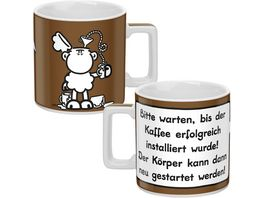 sheepworld Tasse KAFFEE braun