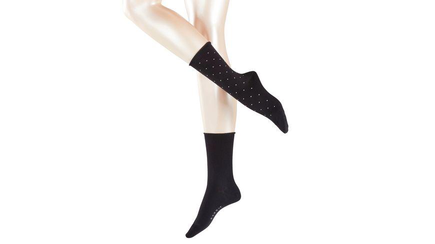 ESPRIT Damen Socke Little Dots 2 Pack