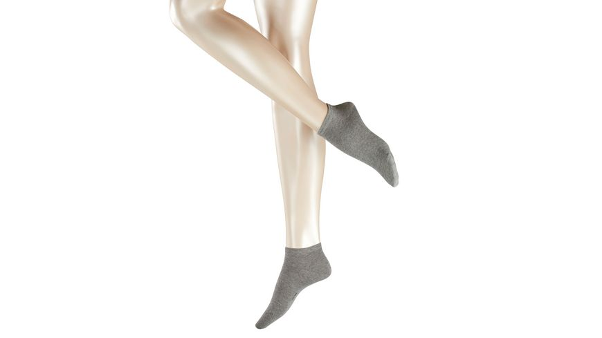 ESPRIT Damen Sneaker Socken uni 2er Pack