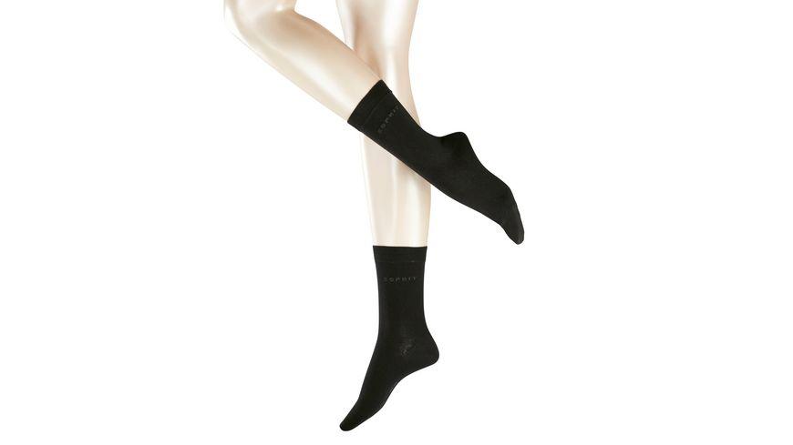 ESPRIT Damen Socke Basic uni 2er Pack