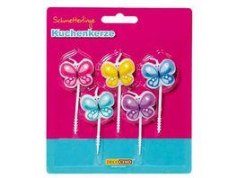 Dekoback Kuchenkerze Schmetterlinge 5er Pack