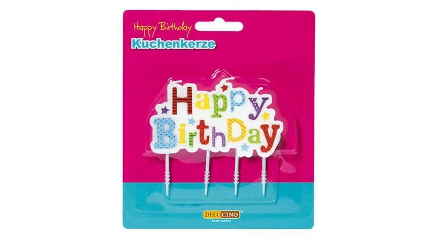 Dekoback Kuchenkerze Happy Birthday