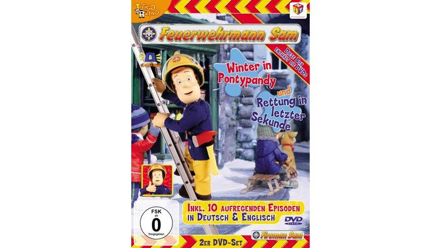 Feuerwehrmann Sam Winter in Pontypandy Rettung in letzer Sekunde 2 DVDs
