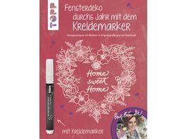 Buch frechverlag Fensterdeko durchs Jahr mit dem Kreidemarker Inkl Original Kreidemarker von Kreul