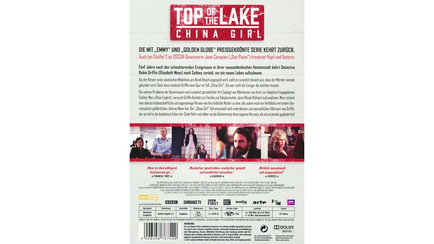 Top of the Lake China Girl 2 DVDs