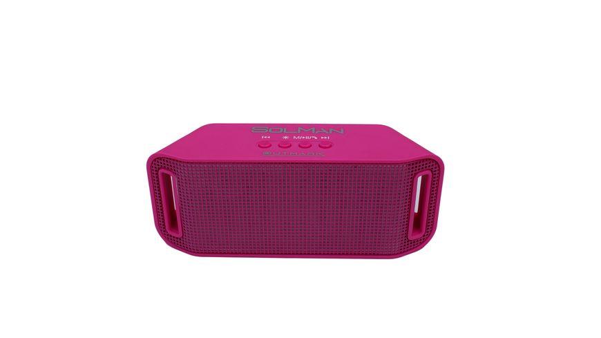 Outmark Bluetooth Lautsprecher mit LED Pink