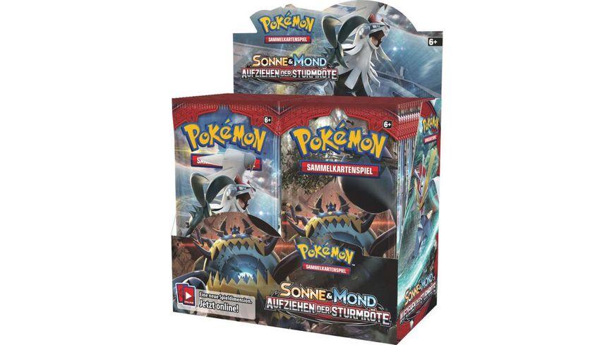 Pokemon Sammelkartenspiel Sm4 Aufziehen Der Sturmroete Booster