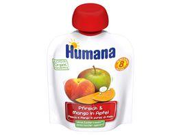 HUMANA Frucht Quetschie Pfirsich Mango in Apfel