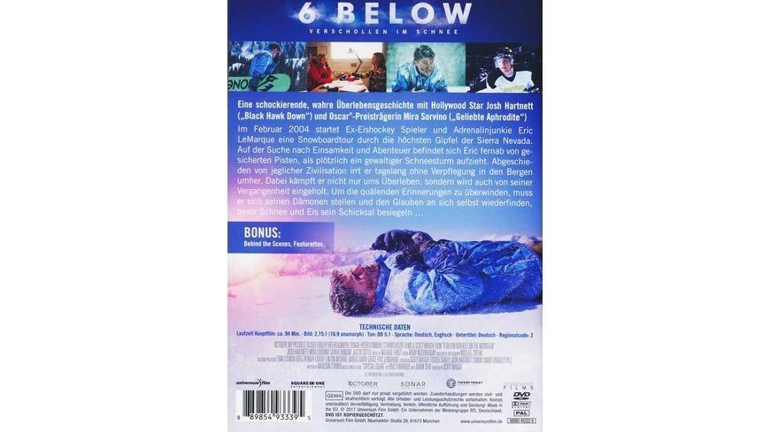 6 Below Verschollen im Schnee