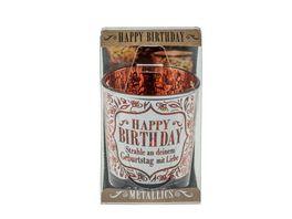 H H Metallics Kerze Birthday