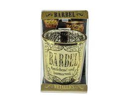 H H Metallics Kerze Baerbel
