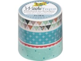 folia Washi Tape Pastell 4er Set