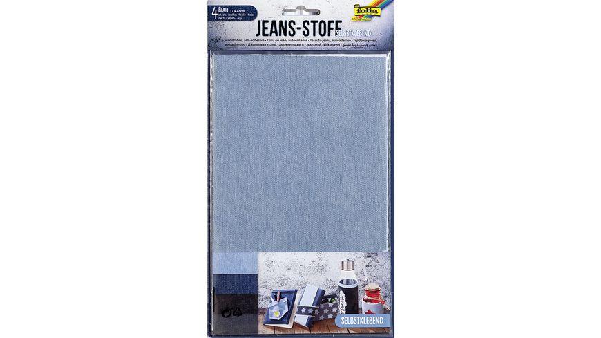 folia Jeans Stoff 4 Blatt 17 x 27 cm