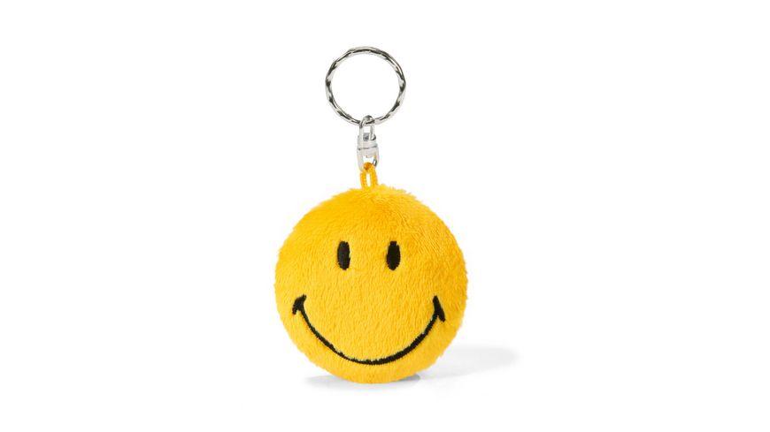 NICI Schluesselanhaenger Smiley gelb BeanBag 6cm