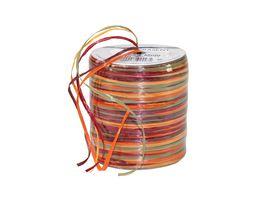 PRAeSENT Raffia Multicolor Rolle bordeaux gruen und orange